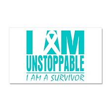 Unstoppable Cervical Cancer Car Magnet 20 x 12