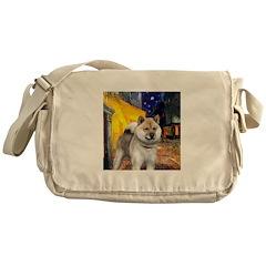 Cafe - Shiba Inu (std) Messenger Bag