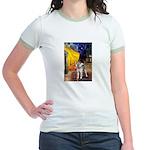 Cafe - Shiba Inu (std) Jr. Ringer T-Shirt