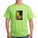 Cafe - Shiba Inu (std) Green T-Shirt