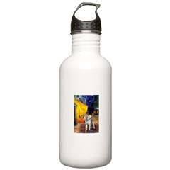 Cafe - Shiba Inu (std) Water Bottle