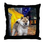Cafe - Shiba Inu (std) Throw Pillow