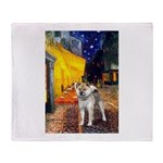 Cafe - Shiba Inu (std) Throw Blanket