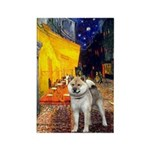 Cafe - Shiba Inu (std) Rectangle Magnet (100 pack)