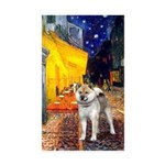 Cafe - Shiba Inu (std) Sticker (Rectangle 10 pk)