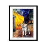 Cafe - Shiba Inu (std) Framed Panel Print