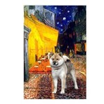 Cafe - Shiba Inu (std) Postcards (Package of 8)