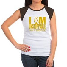 Unstoppable Childhood Cancer Women's Cap Sleeve T-