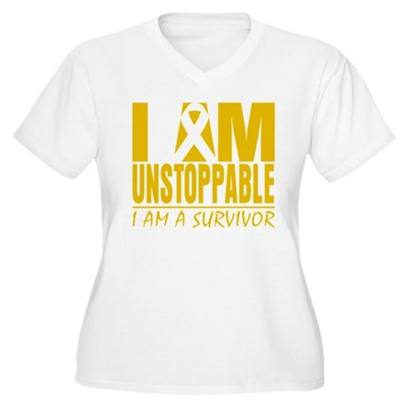 Unstoppable Childhood Cancer Women's Plus Size V-N