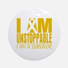 Unstoppable Childhood Cancer Ornament (Round)