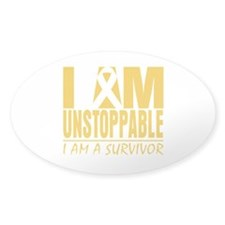 Unstoppable Childhood Cancer Decal