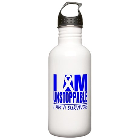 Unstoppable Colon Cancer Stainless Water Bottle 1.