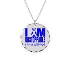 Unstoppable Colon Cancer Necklace Circle Charm