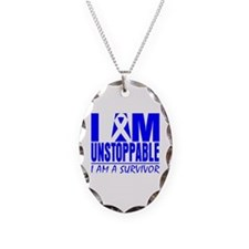 Unstoppable Colon Cancer Necklace Oval Charm