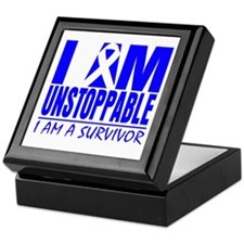 Unstoppable Colon Cancer Keepsake Box