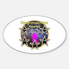 Grad Girls Amelia: 0002 Sticker (Oval)