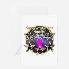 Grad Girls Amelia: 0002 Greeting Card