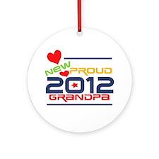 2012 Proud New Grandpa Ornament (Round)