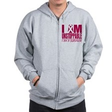 Unstoppable Head Neck Cancer Zip Hoodie