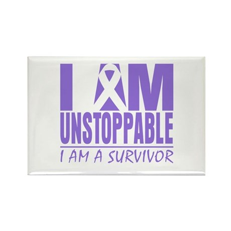 Unstoppable Hodgkins Lymphoma Rectangle Magnet