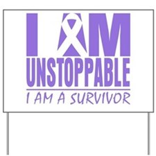 Unstoppable Hodgkins Lymphoma Yard Sign
