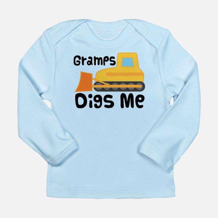 Love Gramps Bulldozer Long Sleeve Infant T-Shirt
