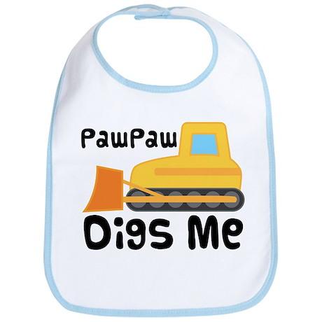 Paw Paw Digs Me Bulldozer Bib