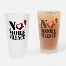 No More Silence Drinking Glass