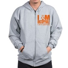 Unstoppable Kidney Cancer Zip Hoodie