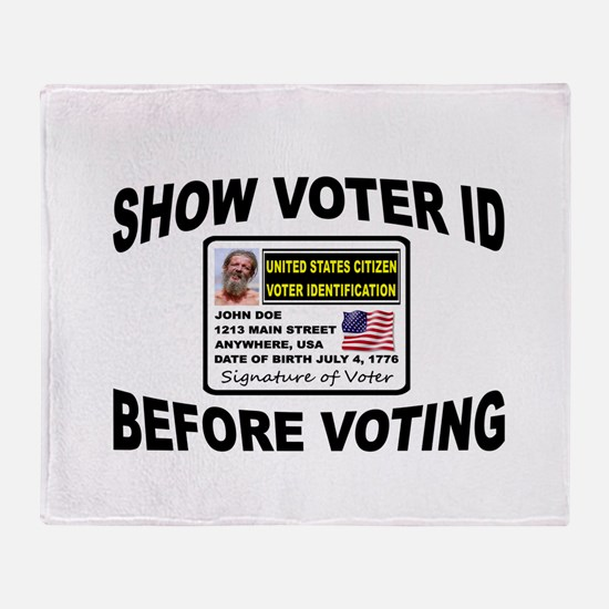 VOTER FRAUD Throw Blanket