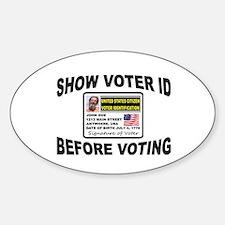 VOTER FRAUD Sticker (Oval)