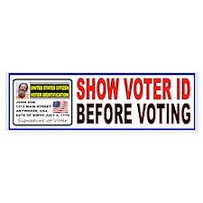 VOTER FRAUD Bumper Sticker