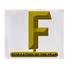2012 Father of the Year Throw Blanket