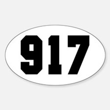 """""""917"""" Oval Decal"""