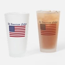 All American Father Drinking Glass