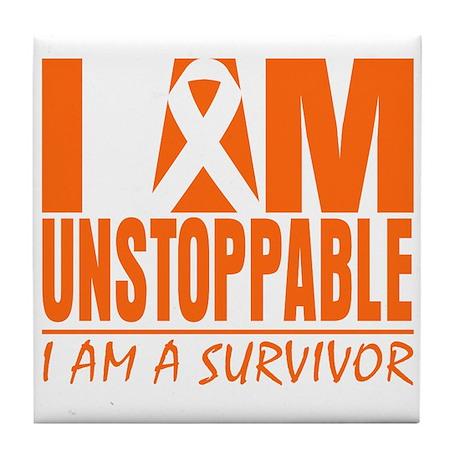 I am Unstoppable Leukemia Tile Coaster