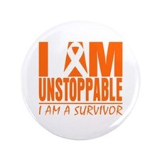 """I am Unstoppable Leukemia 3.5"""" Button (100 pack)"""