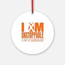 I am Unstoppable Leukemia Ornament (Round)
