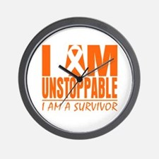 I am Unstoppable Leukemia Wall Clock
