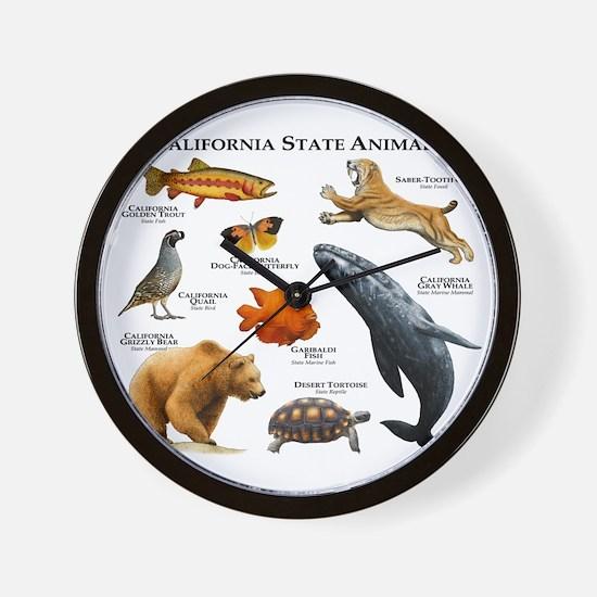 California State Animals Wall Clock