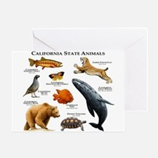California State Animals Greeting Card