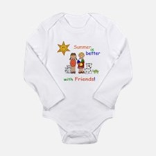 Summer and Friends Long Sleeve Infant Bodysuit