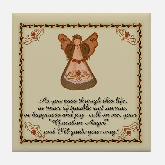 As you pass Angel Tile Coaster