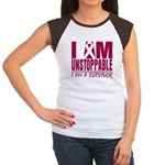 Unstoppable Multiple Myeloma Women's Cap Sleeve T-