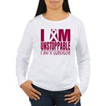 Unstoppable Multiple Myeloma Women's Long Sleeve T