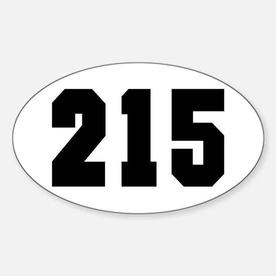 """""""215"""" Oval Decal"""