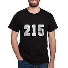 """""""215"""" Black T-Shirt"""