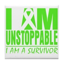I Am Unstoppable Lymphoma Tile Coaster