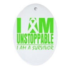 I Am Unstoppable Lymphoma Ornament (Oval)