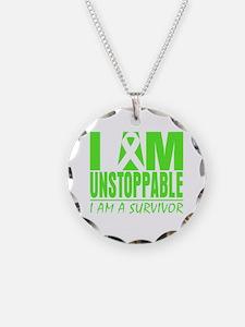 I Am Unstoppable Lymphoma Necklace